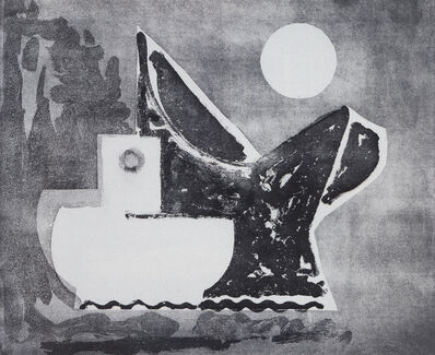 Paul Resika, 'Last Boat and Moon', 2001