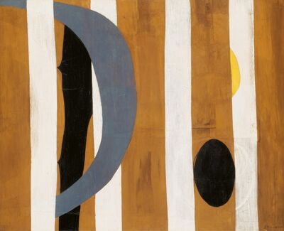 Robert Motherwell, 'Wall Painting with Stripes', 1944 -1945