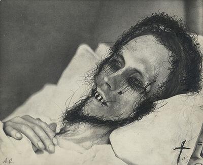 Arnulf Rainer, 'Death Mask Mrs. Hodler', Vienna 1978