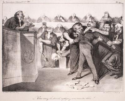 Honoré Daumier, 'Vous avez la parole, expliquez-vous, vous etes libre', 1833-1835