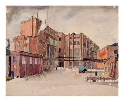 Carl Grossberg, 'Weißer Rauch (Fabrikhof)', ca. 1933