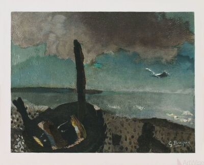 Georges Braque, 'Boat on a Shore in Brittany', (Date unknown)