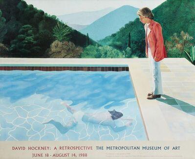 After David Hockney, 'Exhibition poster for 'David Hockney: A Retrospective, The Metropolitan Museum of Art, June 18-August 14', 1988