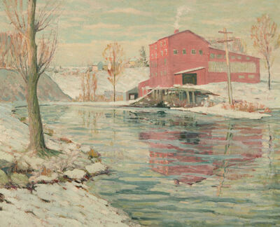 Ernest Lawson, 'The Red Mill', ca. 1916