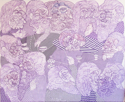 José Lerma, 'Last Supper (Purple)', 2015