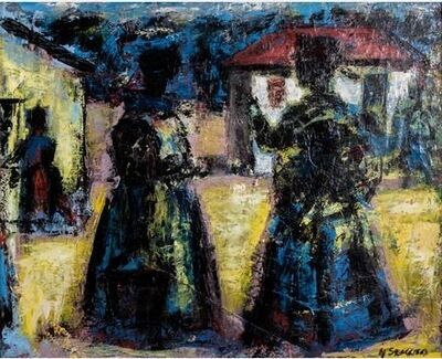 Gerard Sekoto, 'Market Scene', ca. 1955