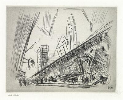 John Marin (1870-1953), 'Downtown, The El', 1921