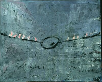 Anselm Kiefer, 'Palette am Seil', 1977
