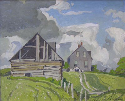 A.J. Casson, 'Farmhouse near Tripp Lake'