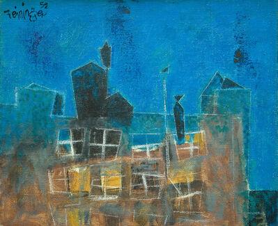 Lyonel Feininger, 'Factory at Night', 1952