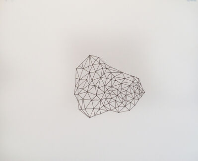 Gail Peter Borden, 'Untitled (Triangulated Facet Field Drawing)', 2016