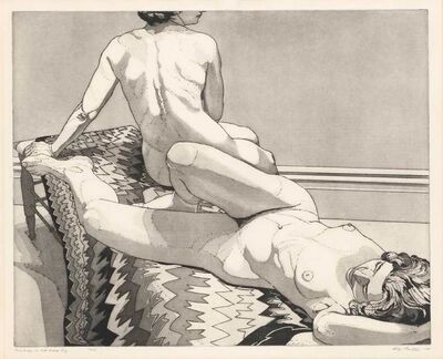 Philip Pearlstein, 'TWO NUDES ON OLD INDIAN BLANKET', 1971