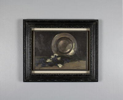 Kurt Schwitters, 'Still-life with Flowers and Tin Plate', 1914