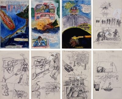 Jean-Michel Basquiat, 'The Comic Book (Series of 8 Drawings)', 1978