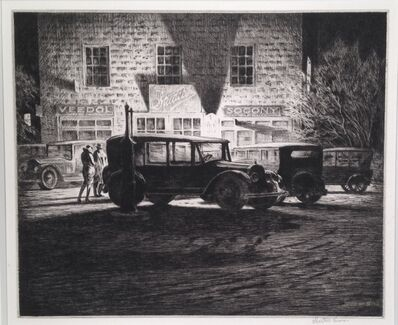Martin Lewis, 'Shadows, Garage at Night', 1928