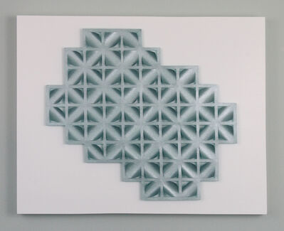 Tracey Meyer, 'What Shapes Us - 26, silvery aqua colour with lovely sheen, textural apertures and unique jagged edge', 2020