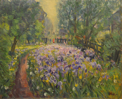 Vladimir Klimentevich Zhuk, 'Iris fields', 1989