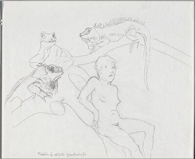 Maria Lassnig, 'Mädchen in schlechter Gesellschaft', 1983