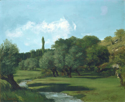 Gustave Courbet, 'La Bretonnerie in the Department of Indre', 1856
