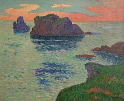 Henry Moret, 'Ouessant, Ciel Rose', 1895