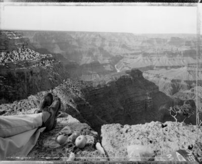 Mark Klett, 'Picnic on the edge of the rim, Grand Canyon, Arizona, 2/12/83', 1983