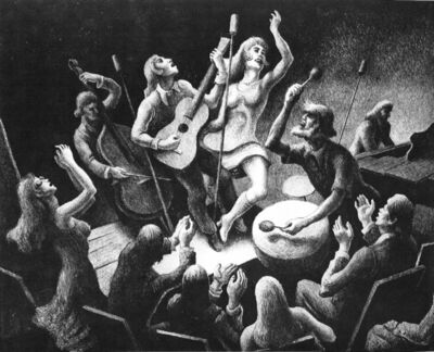 Thomas Hart Benton, 'Youth Music', 1974