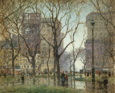 Paul Cornoyer, 'Rainy Day, Madison Square', Date Unknown