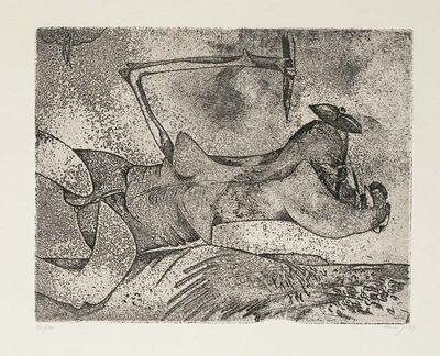 Gianni Dova, 'Figure in Space', 1970