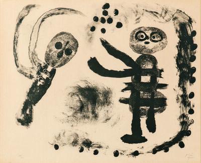 Joan Miró, 'Petite fille au bois', 1958