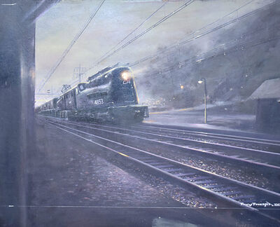 Tony Fachet, 'CA 4853 Train at Night', 1980