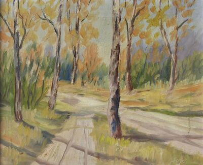 Attributed to Hans Berger, 'Woodland path'
