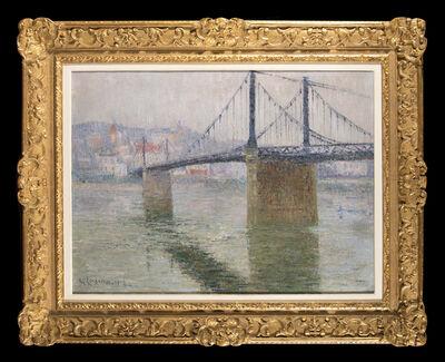 Gustave Loiseau, 'Le Pont suspendu de Triel sur Seine', 1915