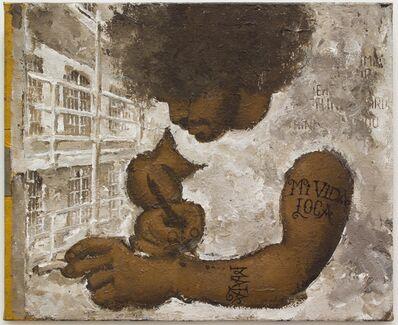 Martin Wong, 'Portrait of Mickey Pinero Tattooing', ca. 1988