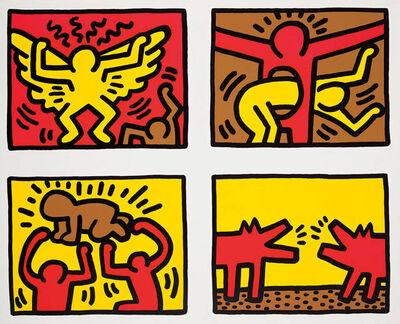 Keith Haring, 'Untitled, 1989, Pop Shop Quad IV', 1997