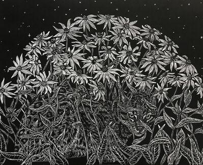 Julia Lucey, 'Ocelot in Black-Eyed Susans', 2018