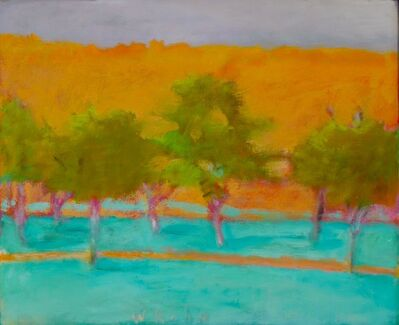 Wolf Kahn, 'Brilliant Green Trees', 1997