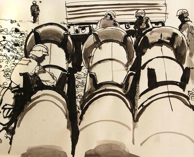 Steve Mumford, '5B8 Attaching explosives to Iraqi missiles, Tikrit, Oct, 2003', 2003