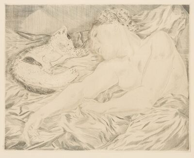 Léonard Tsugouharu Foujita 藤田 嗣治, 'La femme au chat'