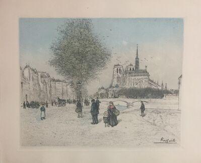 Jean François  Raffaëlli, 'Paris, Quai de la Tournelle', 1911