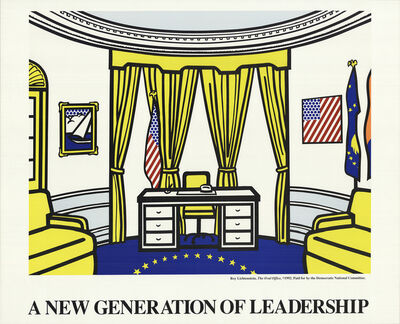 Roy Lichtenstein, 'Oval Office', 1992