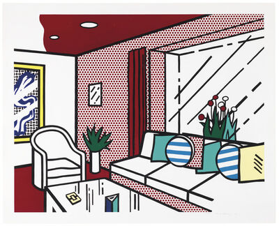 Roy Lichtenstein, 'Living Room, from Interior Series', 1990