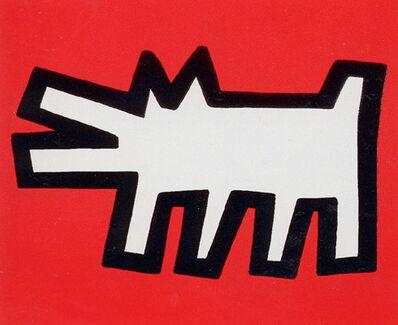 Keith Haring, 'Icons (B) - Barking Dog', 1990