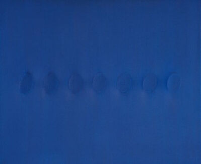 Turi Simeti, '7 Ovali blu', 2013