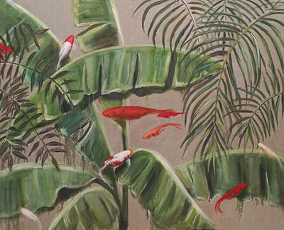 Valeria Pesce, 'Goldfishes searching for Banana Leaves ', 2018