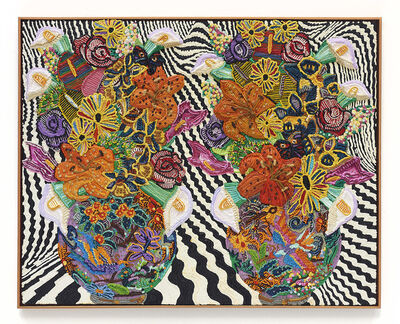 Caroline Larsen, 'Double Longwy Vase With Phoenix', 2020