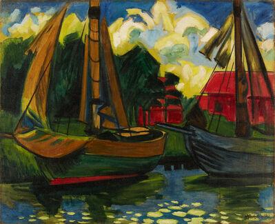 Max Pechstein, '»Zwei Kutter im Hafen von Leba«', 1922