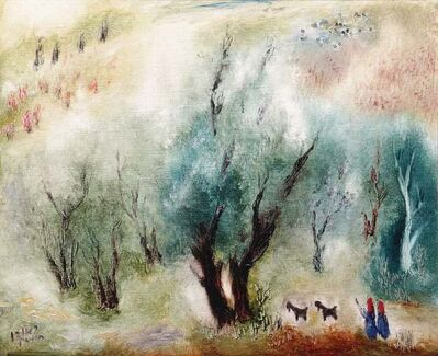 Reuven Rubin, 'Olive Grove in Galilee, 1973, Oil on canvas, 38X46 cm. Signed. Signed, titled and dated on the reverse. The authenticity of the painting has been confirmed by Ms. Carmela Rubin, Rubin Museum, Tel-Aviv.', 1973