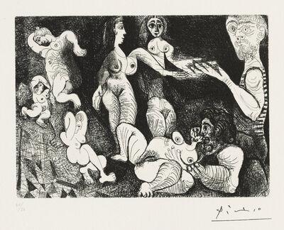 Pablo Picasso, 'Marin rêveur avec deux femmes, from: Series 156', 1970