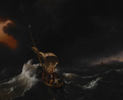 Ludolf Backhuysen, 'Christ in the Storm on the Sea of Galilee', 1695