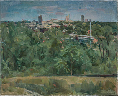 Wilbur Niewald, 'View of Roundhouse from Cambridge Circle II', 2013